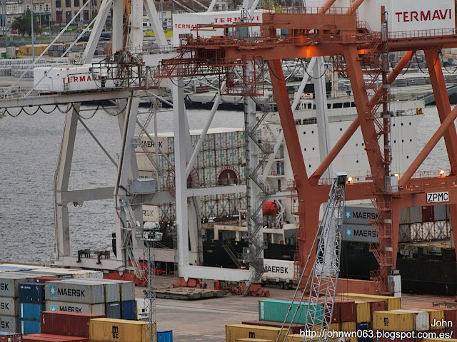 fotos de barcos, imagenes de barcos, jandavid s, containero, container ship, guixar, vigo