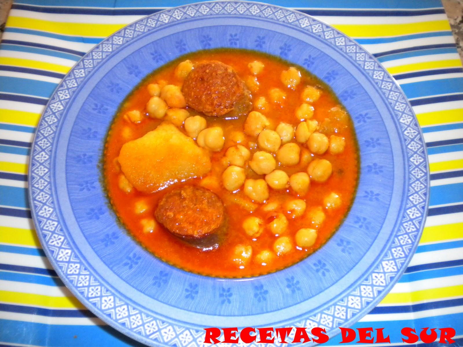 Recetas del sur potaje de garbanzos con chorizo - Potaje de garbanzos y judias ...