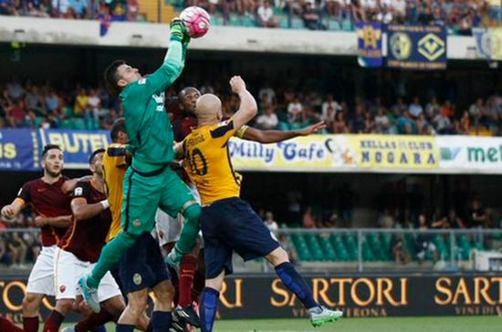 Hellas Verona 1 x 1 Roma - Campeonato Italiano(Calcio) 2015/16