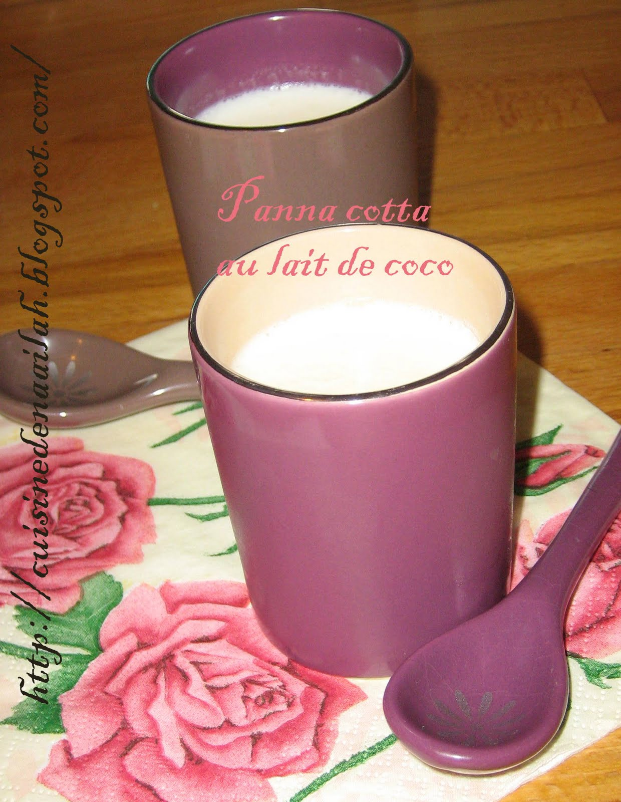 panna cotta au lait de coco blogs de cuisine. Black Bedroom Furniture Sets. Home Design Ideas