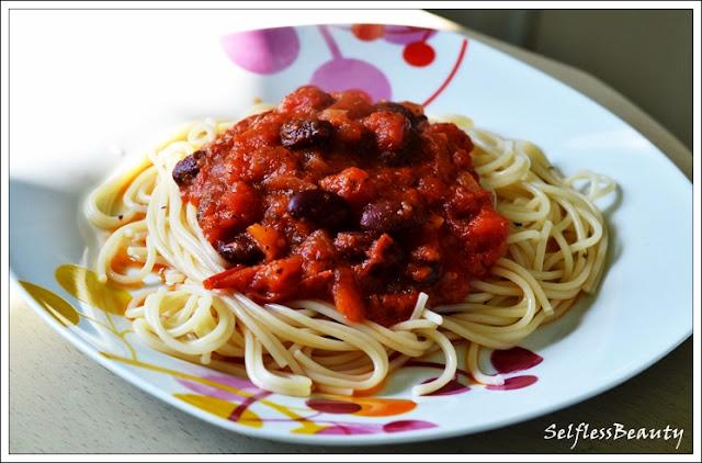 przepis na spaghetti wegetariańskie