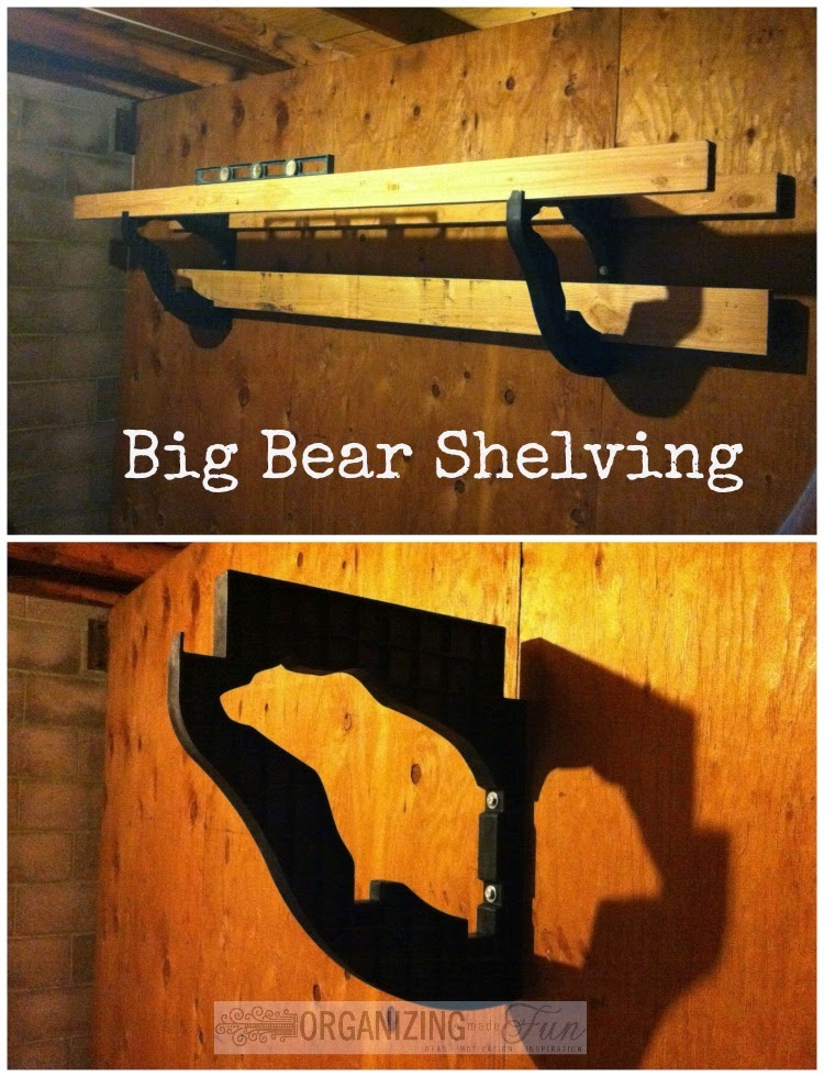 Easy installation of Big Bear Shelving :: OrganizingMadeFun.com