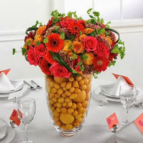 Decoração Com Flores Artificiais Para Casamento - Fotos De Arranjos De Flores Artificiais Para Casamento