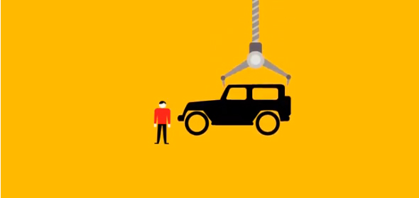 grúa, coches, aparcamiento