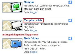 Cara membuat slideshow di blog