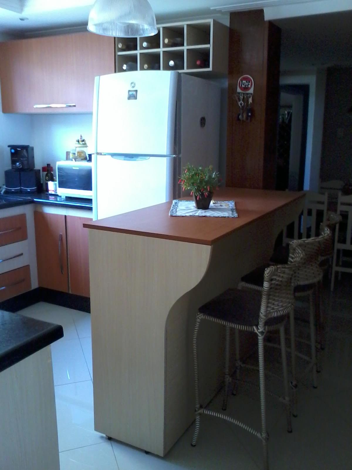 Marcenaria: Cozinha planejada (completo)   Bancada com Armário #2971A2 1200x1600