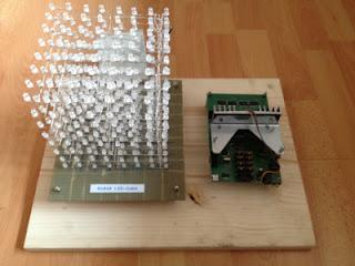 Cubo de LEDs 8x8x8 AVR Arduino