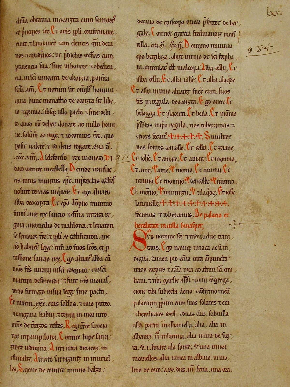 Documento pleito San Vicente de Acosta