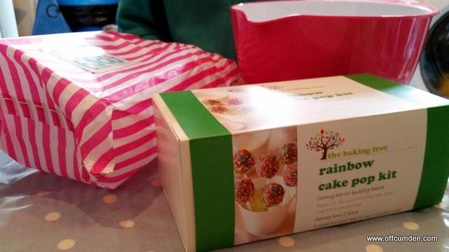 funky foods rainbow cake pop kit