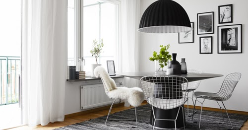 Black, white and cosy in Stockholm