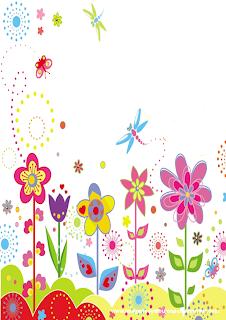 paisaje con flores para imprimir