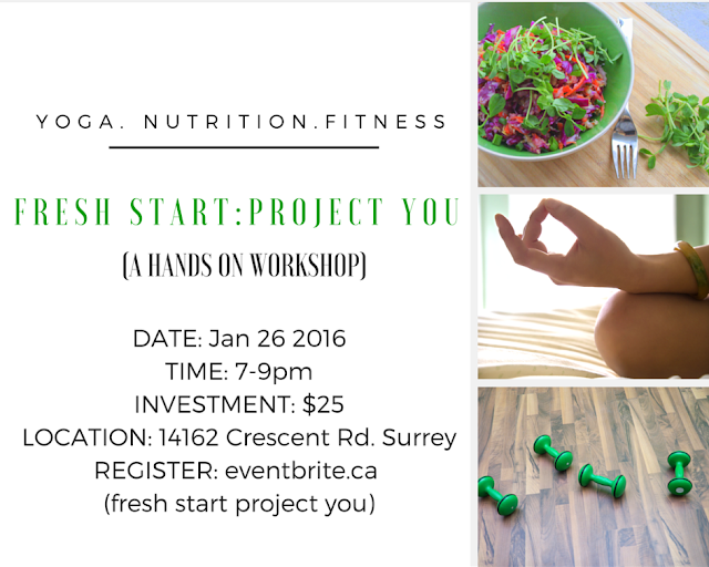 Yoga, nutrition and fitness workshop in South Surrey
