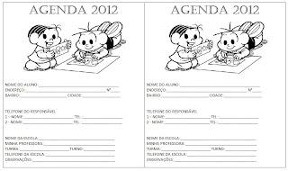 Capa para agenda 2012 Turma da Mônica