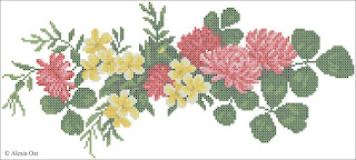 Free cross-stitch patterns, Victorian Trefoil, floral, flower, clover, Victorian, cross-stitch, back stitch, cross-stitch scheme, free pattern, x-stitchmagic.blogspot.it, вышивка крестиком, бесплатная схема, punto croce, schemi punto croce gratis, DMC, blocks, symbols