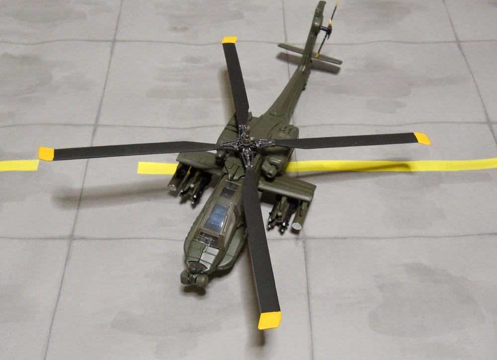 maqueta helicoptero de ataque ah-64-apache