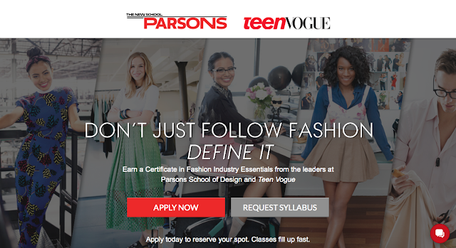 Parsons & Teen Vogue fashion certificate