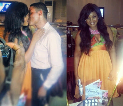 omotola jalade surprise birthday party