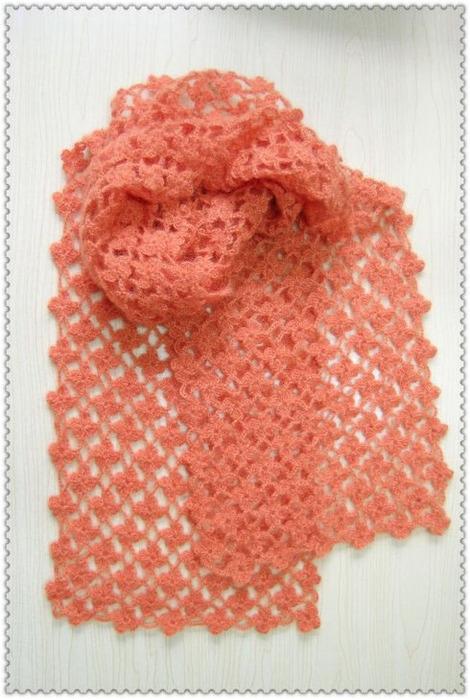 Вязание крючком красивого шарфа 57