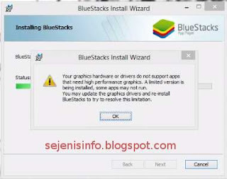 bluestacks error message update driver
