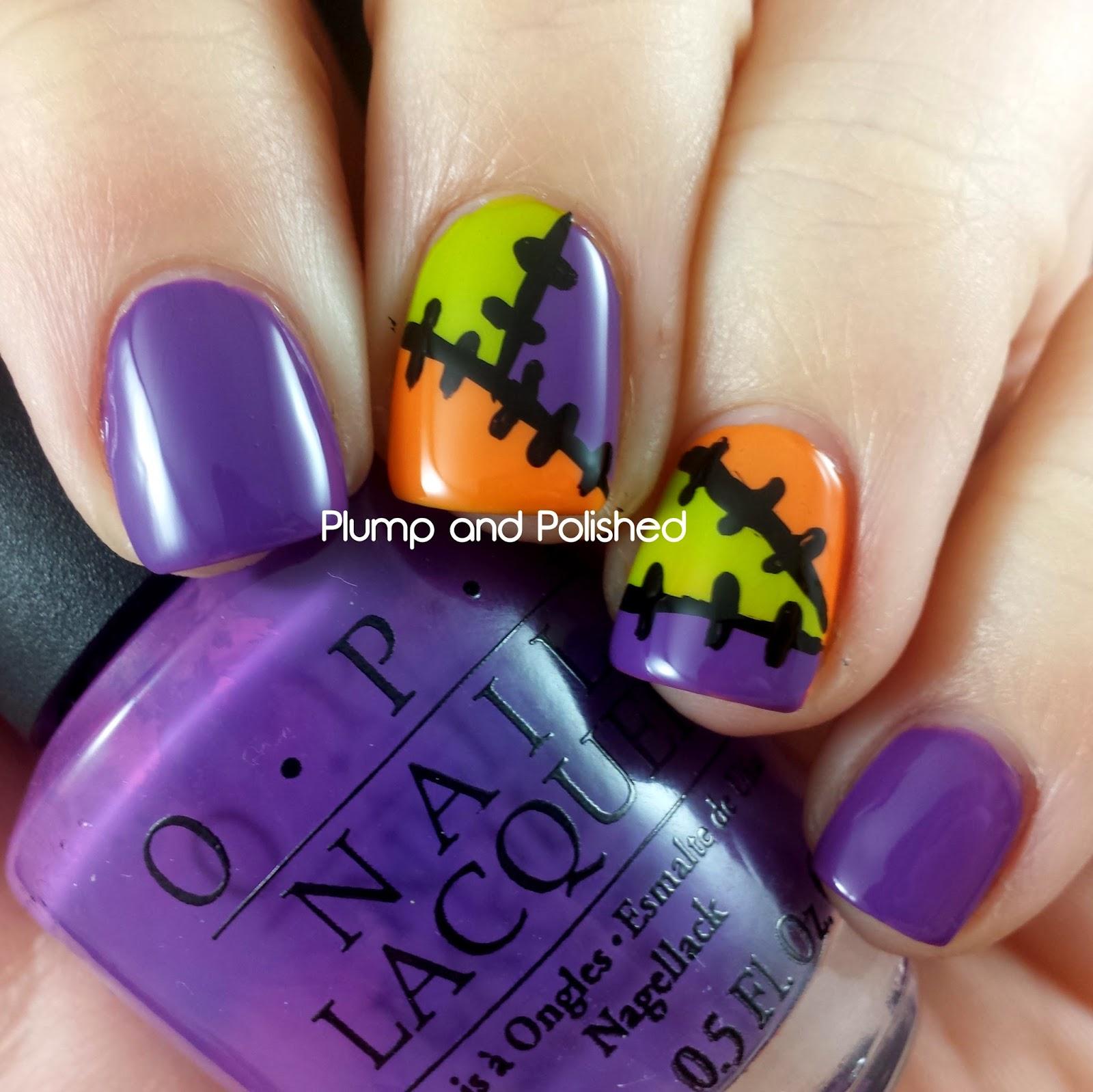 Halloween Nail Art - Patchwork