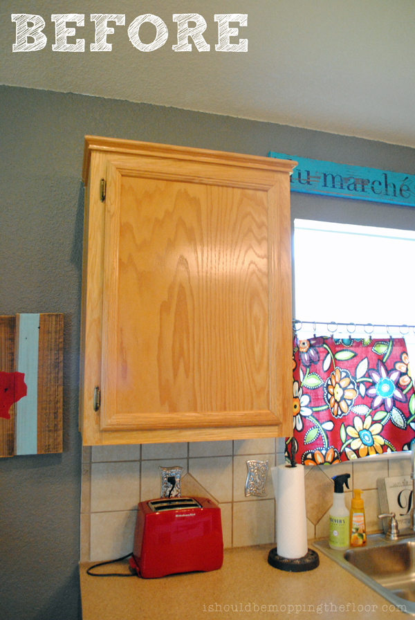 I should be mopping the floor giving builder grade - Builder grade oak kitchen cabinets ...