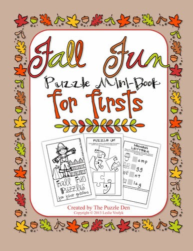 http://www.teacherspayteachers.com/Product/Fall-Fun-Mini-Book-of-Puzzles-for-First-Graders-967921