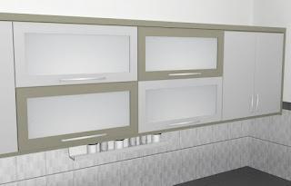 furniture semarang - desain kitchen set minimalis pintu kaca engsel hidrolis 05