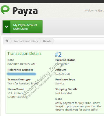 Adf.ly Payment Proof #2