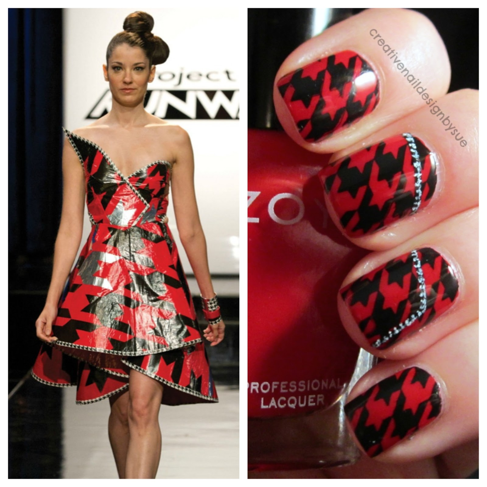 Creative Nail Design by Sue: Digital Dozen Does Fashion-Duct Tape?