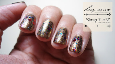 ShengJi #58 Glitter Nail Polish Review