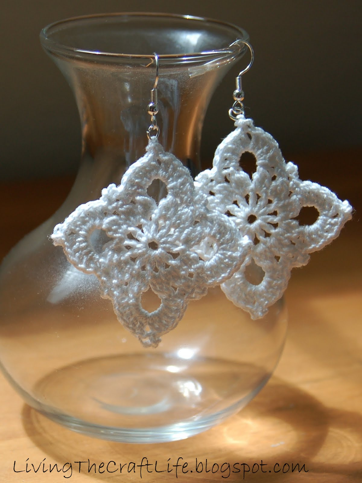 Free Crochet Patterns For Earrings : Living the Craft Life: Large Royal Earrings - Free Crochet ...