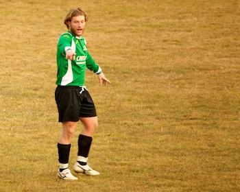 Simone Corneo, alla sua prima in biancoverde.