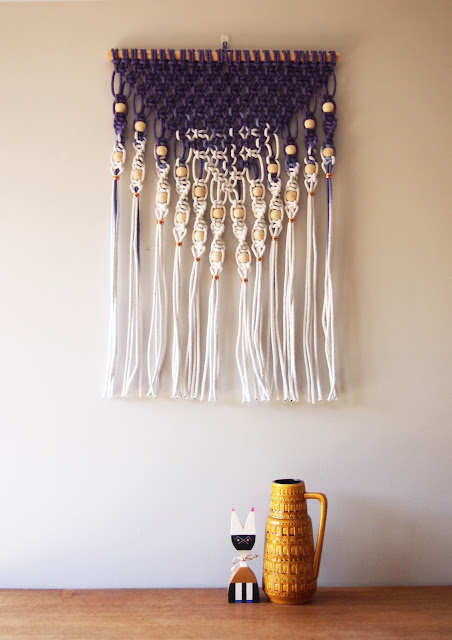 Ouch Flower Dip Dyed Macram 233 Wall Hanging