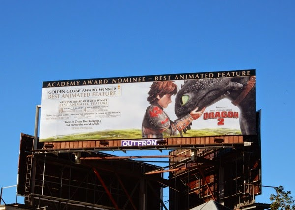 How to Train Your Dragon 2 Oscar consideration billboard
