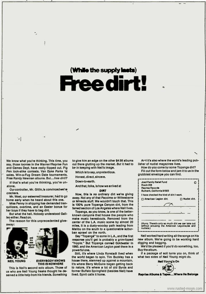 Neil Young - Free Dirt - Ad