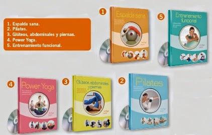 libros de fitness con dvd de pilates power yoga entrenamiento funcional espalda sana gluteos abdominales y piernas