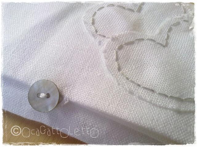 bustine portaconfetti di lino con cuori