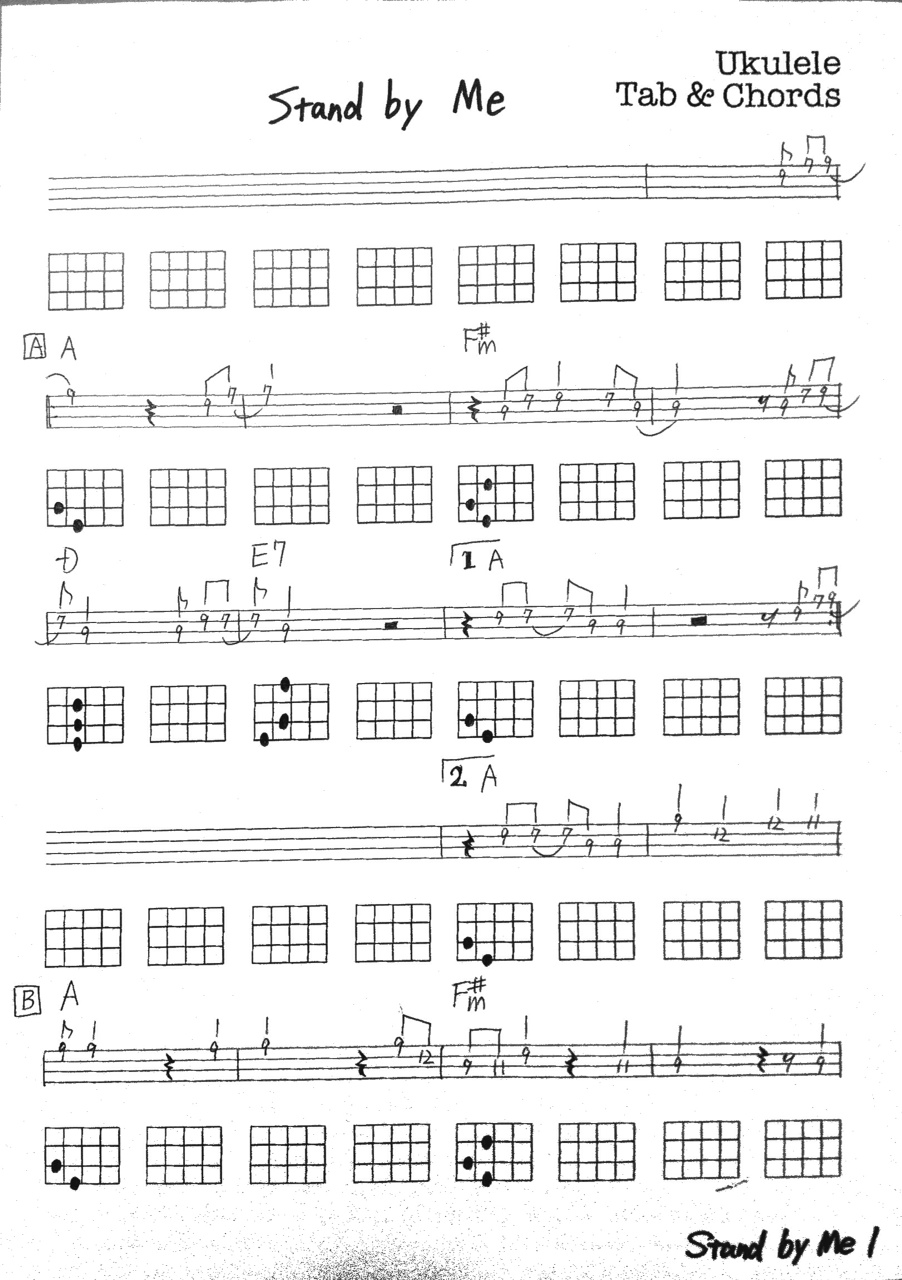 Guitar tabs chords stand by me tabs tabs chords tablatures guitar