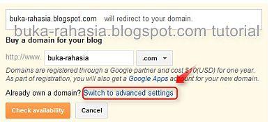 domain advanced settings