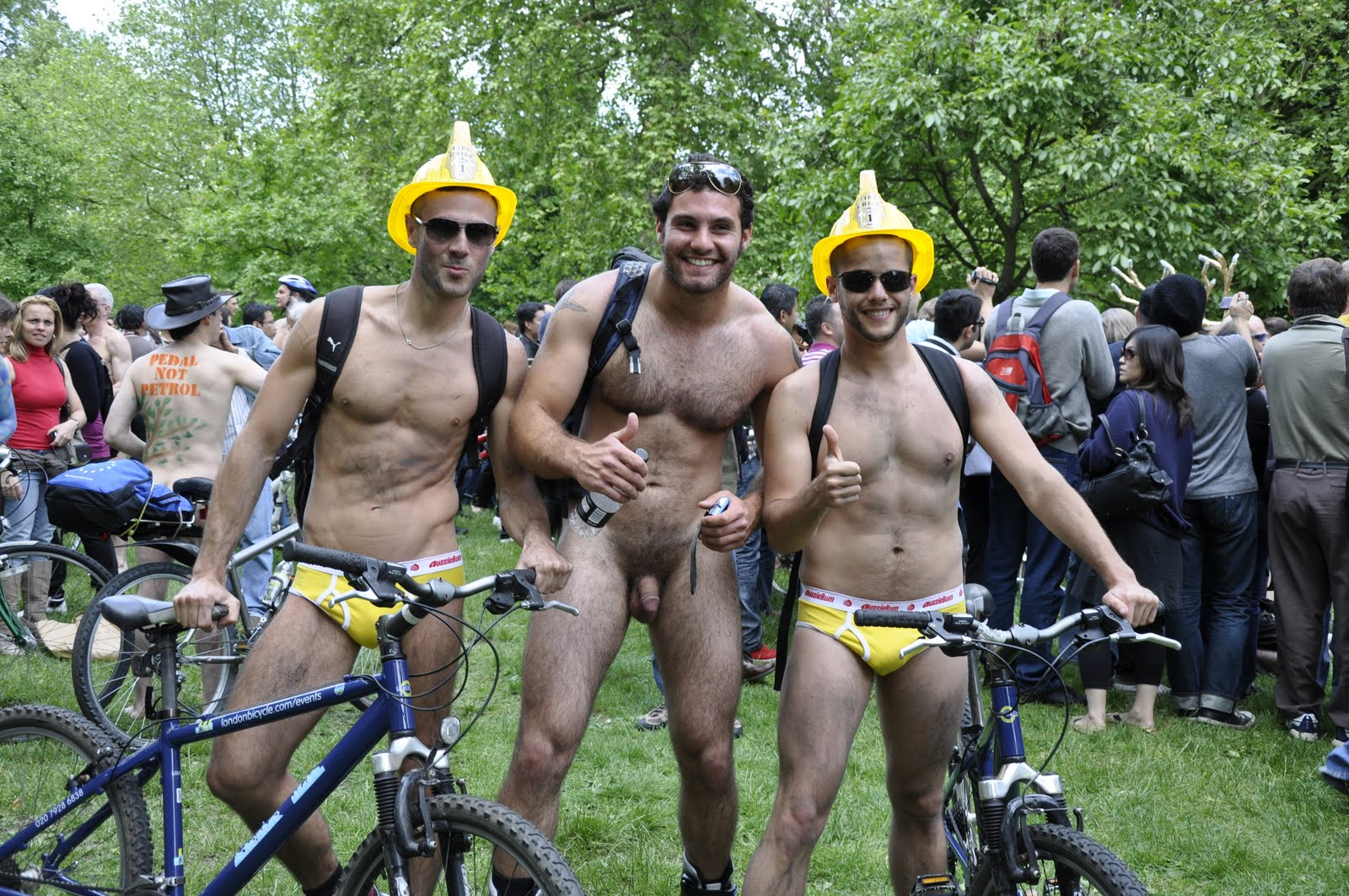 cfnm street bikers World Naked Bike Ride