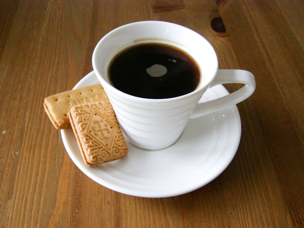 have a coffee with biscuit and relax ,