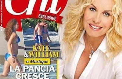 revista chic con catalina en bikini embarazada