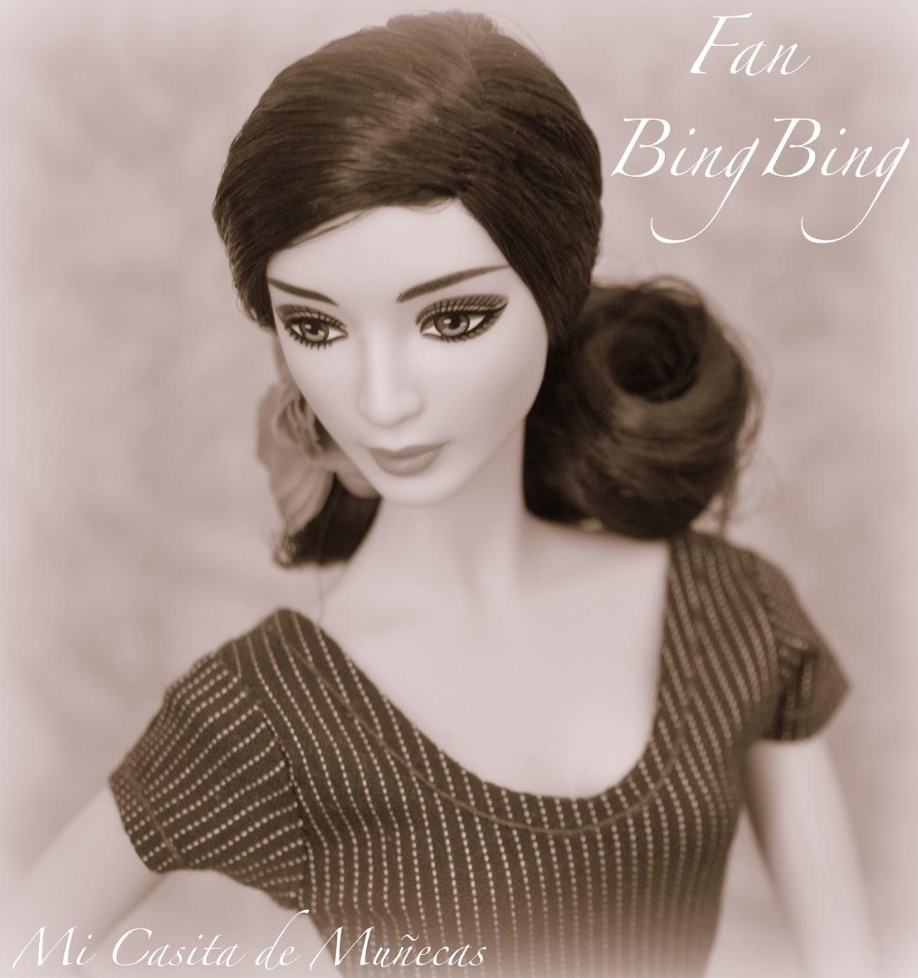 Barbie Fan Bingbing mattel. Blog Mi Casita de Muñecas. Vestido hecho a mano para Barbie.