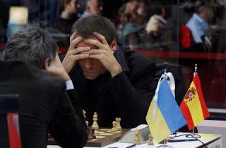 Echecs à Bilbao : Francisco Vallejo Pons (2716) 1-0 Vassily Ivanchuk (2765) lors de la ronde 7 © site officiel