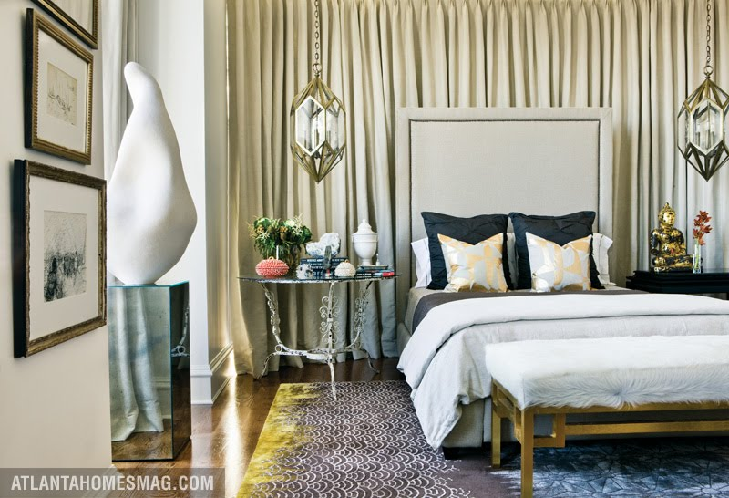 via atlanta homes and lifestyles and erin martin - Fabric Wall Designs