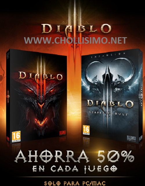 Diablo III and Reaper of Souls 50%