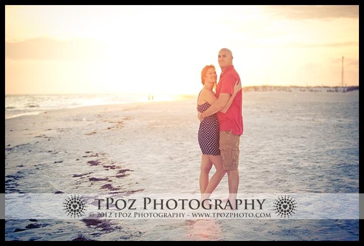 sunset beach proposal engagement