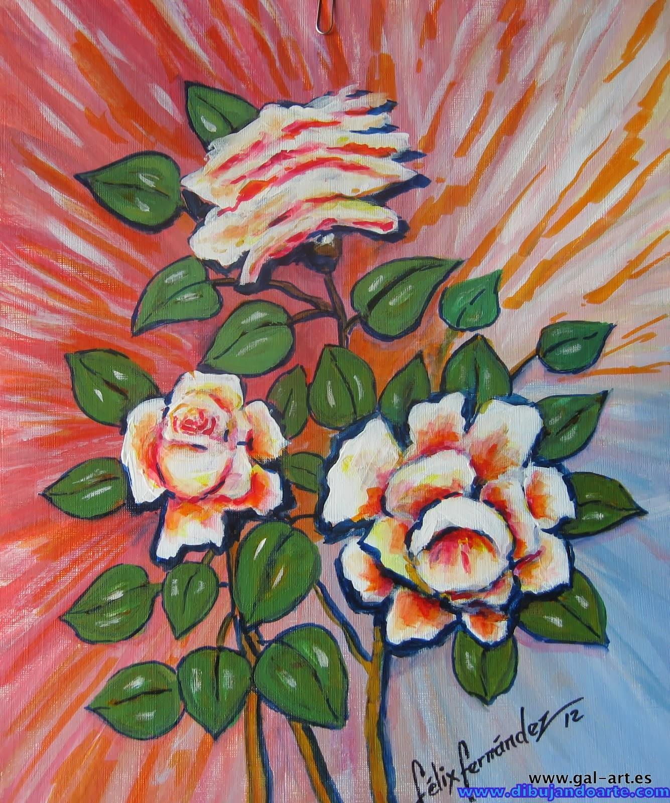 Flores que ni pintadas