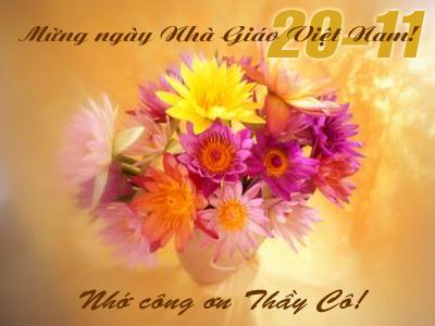 Thiệp chúc mừng ngày nhà giáo Việt Nam