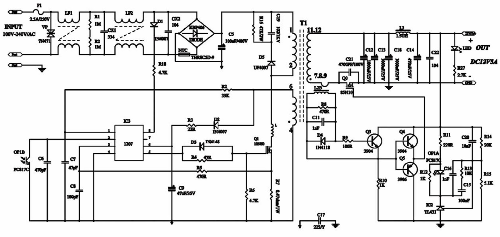 Lct 20kx01lst akira lcd tv back light inverter power adapter lct 20kx01lst akira lcd tv back light inverter power adapter schematic circuit diagram asfbconference2016 Images